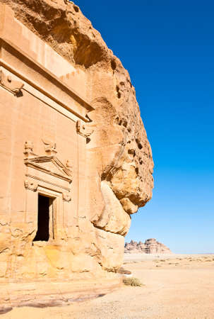 nabatean: Madain Saleh, the archaeological site with the Nabatean tomb of the 1st century