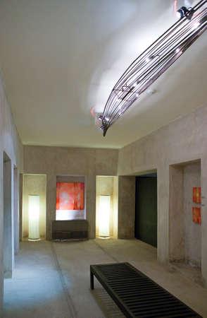 bahrain: Manama, Bahrain -  December 9, 2006: The inside of the cultural center La Fontaine.