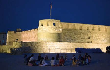 xv century: Muharraq,  Bahrain - December 5, 2006: People in  the islamic Arad Fort of the XV century.