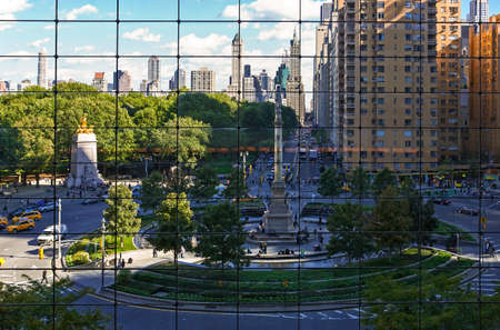 New York, USA - October 7, 2010: Manhattan, Columbus Circle seen from the Warner Center. Editorial