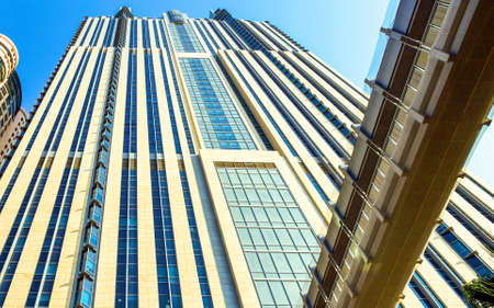 sheik: Dubai, U.A.E. - November 15, 2006:  Detail of the  architectures of the business area of the  Sheik Zaied Road.