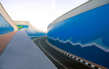sheik: Dubai, perspective view of a subway road in the  Sheik Zaied business area.