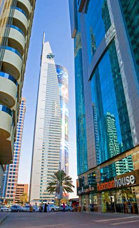 sheik: Dubai, U.A.E. - November 15, 2006:  The beautifull architectures of the business area of the  Sheik Zaied Road.