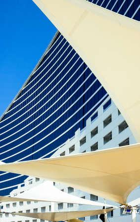 luxuries: Dubai, U.A.E. - November 12, 2006:  The interesting architectures of the Jumeirah hotel