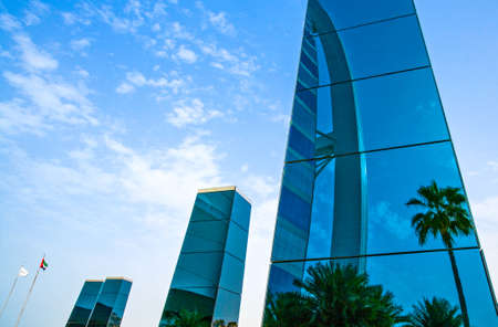 luxuries: Dubai, crystal towers in front of the  luxury Burj Al Arab hotel Editorial