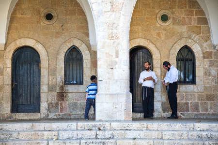 2 november: Jerusalem,  Israel - November 2, 2010: People in the Jewish quarter Editorial