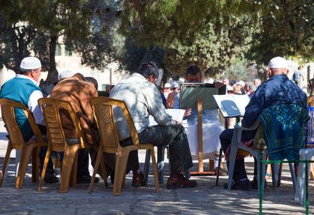 temple mount: Jerusalem,  Israel - November 4, 2010:  Faithfuls in the Temple Mount (Har Habait)