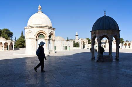 temple mount: Jerusalem,  Israel - November 4, 2010: Tourists in the Temple Mount (Har Habait) Editorial
