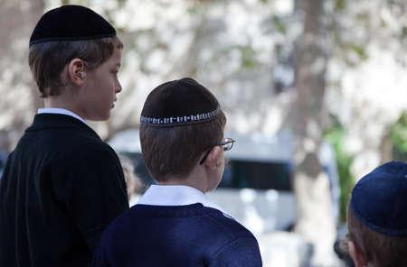jewish quarter: Jerusalem,  Israel - November 6, 2010: Young people in the Jewish quarter