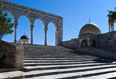 gateway: Israel, Jerusalem, a gateway to the Temple Mount (Har Habait) Stock Photo