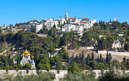 mount of olives: Israel, Jerusalem, view on the Mount of Olives from the Temple Mount (Har Habait)