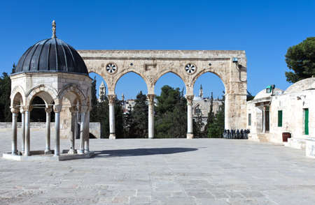 temple mount: Israel, Jerusalem, a gateway to the Temple Mount (Har Habait) Stock Photo
