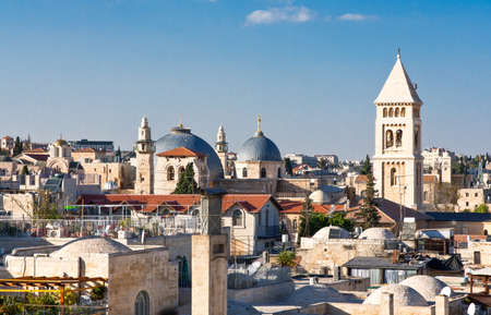 hurva: Israel, Jerusalem, view on the city from the Hurva synagogue Stock Photo