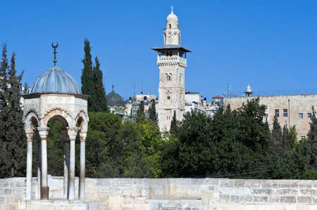 temple mount: Israel, Jerusalem, view on the old city from the Temple Mount (Har Habait)