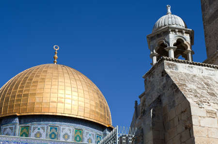 temple mount: Israel, Jerusalem, the Top of the Rock mosque on the Temple Mount (Har Habait)