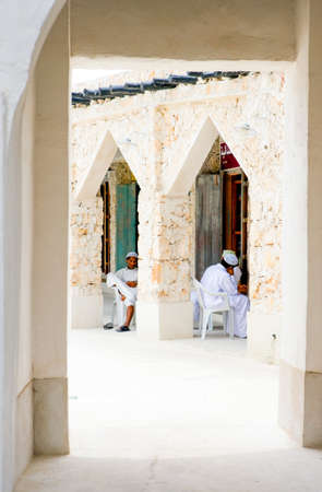 qatar: Doha,  Qatar - April 6, 2006: Local people in the Souq Wakif in the old city center