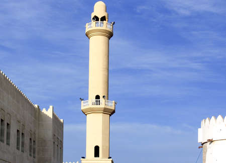 qatar: Qatar, Doha, a minaret of a mosque in the old city center