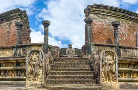 Sri Lanka, Polannaruwa,  the ruins of the medieval capital city