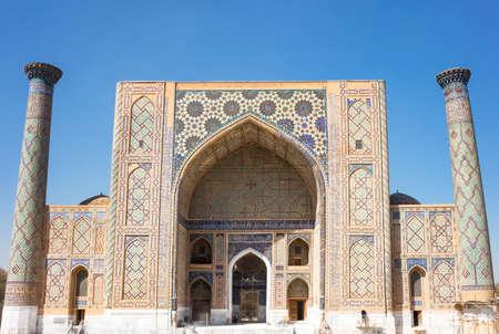 registan: Uzbekistan, Samarkand, the Ulugbek madrassah in Registan square