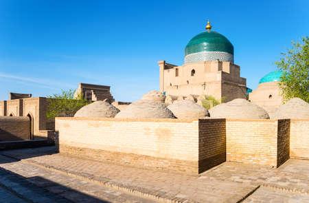 mausoleum: Uzbekistan, Khiva, the Phalavan Mahmud mausoleum Editorial
