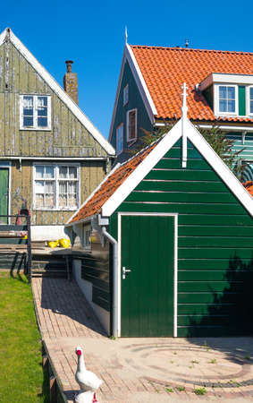 marken: Holland, Waterland district, Marken, view of the traditional house of the village