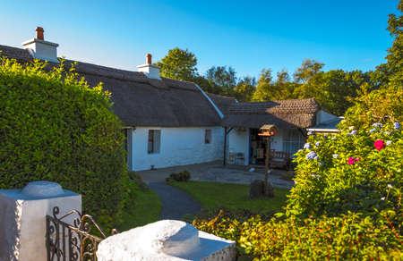 Calway, Ireland - August 4, 2013: Connemara area, traditional country house near Leenane village