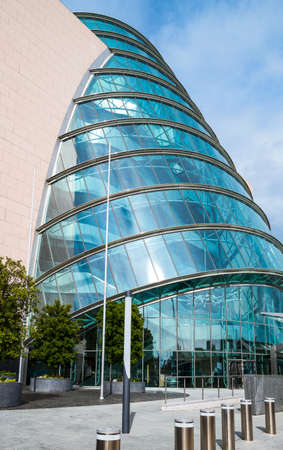 Convention Center: Dublin, Ireland - August 3, 2013:  Nord Wall quay,  the Convention Center palace
