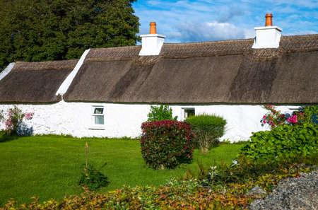 connemara: Calway, Ireland - August 4, 2013: Connemara area, traditional country house near Leenane village Editorial