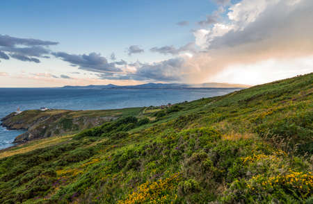 headland: Ireland, Dublin county, the Dublin bay seen from the Howth headland Stock Photo