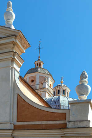 john the baptist: France , Corsica, Ajaccio, detail view of the St John Baptist church.
