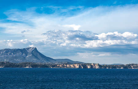 toulon: France, the Toulon coast seen from the open sea.