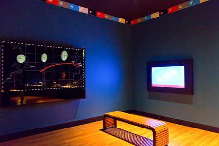 cite: Cherbourg,  France, - May 21, 2012:  Normandy, La Cite De La Mer, the exhibition in memory of the Titanic.