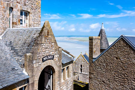 michel: Mont St. Michel, France - May 22, 2012: Normandy, the museum of the medieval village