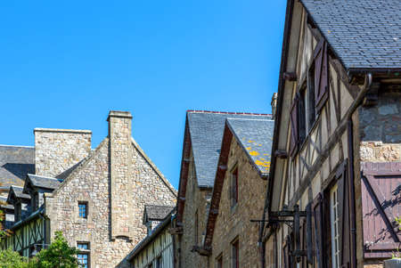 st  michel: France, Normandy, the houses of the medieval village of Mont St Michel