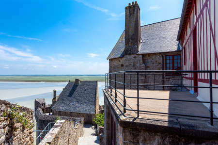 michel: France, Normandy, the houses of the medieval village of Mont St Michel