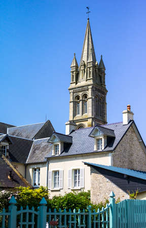 seconda guerra mondiale: Francia, Normandia, Ouistreham, le case nei luoghi della seconda guerra mondiale di prestito