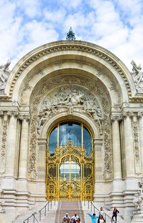 winston: Paris,  France - August 28, 2011:  Av. Winston Churchill, the main door of the Petit Palace museum. Editorial