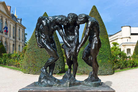 rodin: Paris,  France - August 31, 2011:  The sculptures of August Rodin in the Rodin Museum garden.