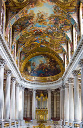 Royal Palace: Paris,  France - August 31, 2011: Paintings and decorations in the halls of the Royal Palace of Versailles. Editorial