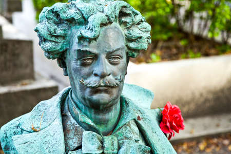 re: Paris,  France - September 27, 2011:  The André Gill bust in the Pére Lachaise cemetery.