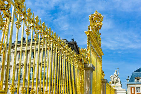 versailles: Paris, the gate of the Royal Palace of Versailles Editorial