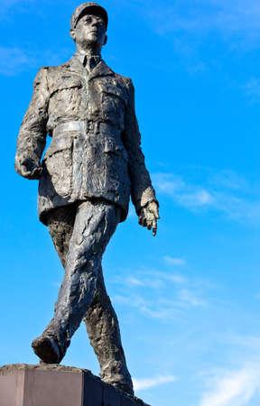 gaulle: Paris, Clemenceau square, the De Gaulle monument. Editorial