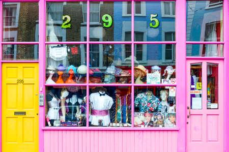 portobello: London, England - June 29, 2008:  A store of Portobello street