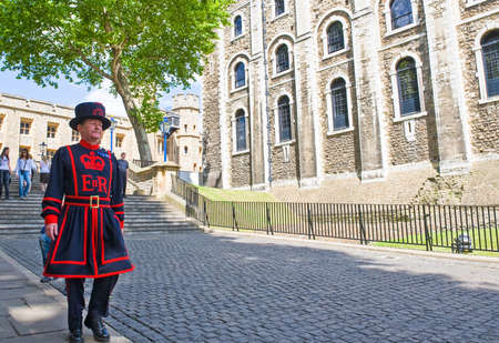beefeater: London, England - June 30, 2008: A guard of the London Tower Editorial