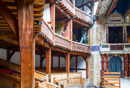 globe theatre: London, England - January 30, 2012:  The Shakespeares  Globe theatre rebuilded with the same materials and tecniques of the original Editorial