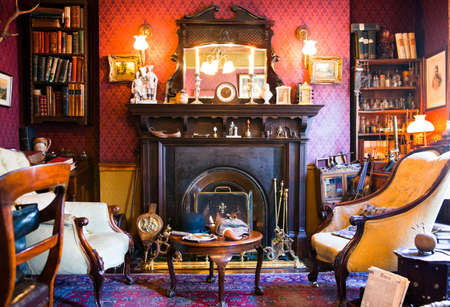 London, England - January 27, 2012: The Sherlock Holmes house and museum in Baker street