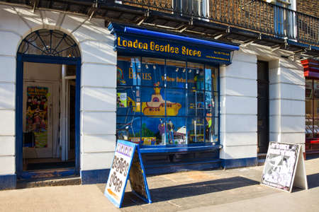 the beatles: London, England - January 27, 2012: The Beatles store in Baker street