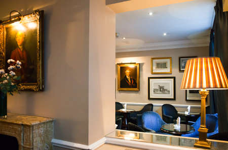 hotel bar: London, England - January 28, 2012: The James Bonds places, the Dukes Hotel Bar in St James street Editorial