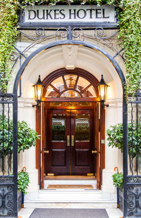 james: London, England - January 28, 2012: The Dukes Hotel in St James street Editorial