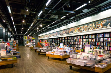 book store: London, England - January 30, 2012:  The book store of the Tate Modern art gallery